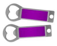 Metal Bottle Opener / Tab Opener Purple