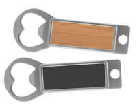 Metal Bottle Opener / Tab Opener Wood with Magnet (Lot of 24)