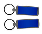 Metal Key Ring - Blue