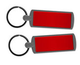 Metal Key Ring - Red